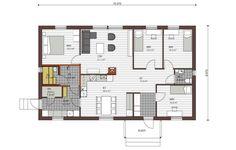 Vieskakoti Elena 137m² Floor Plans, Diagram, Floor Plan Drawing, House Floor Plans