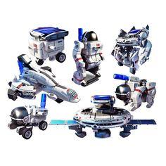 Kit Robótica Cebekit 7 x 1 Solar Space Fleet Solar, Transformers, Robot, Space, Billie Eilish, Twitter, Store, Educational Games, Educational Toys