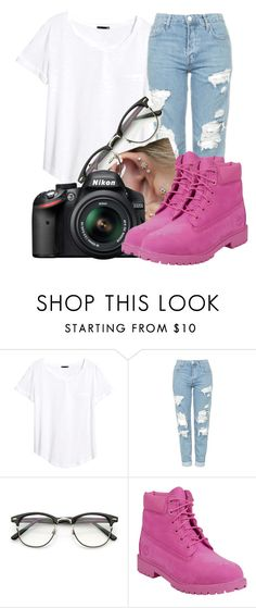 """""""Untitled #444"""" by msfts-rep on Polyvore featuring H&M, Topshop, Nikon and Timberland"""