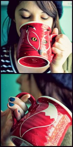 fox coffee mug - for those who keep asking: I got the mug at Target! It& a Katie Brown mug. I can& find it online no matter how hard I look. Cute Coffee Mugs, Cool Mugs, I Love Coffee, Tea Mugs, My Coffee, Coffee Shop, Coffee Cups, Katie Brown, Tea Parties
