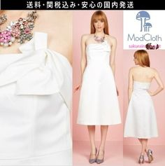 ★セレブ人気★モドクロス modcloth 結婚式 シンプル ワンピース ドレス 白 ホワイト 2016 ファッション 秋
