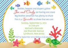 Under the Sea Invitation  Personalized by afairytalebeginning, $12.00 - I love the greeting!