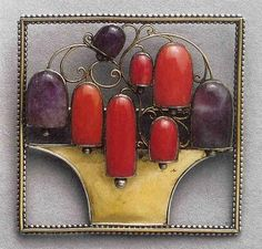 Josef Hoffmann was a young architect from Moravia, recently employed by the studio of Otto Wagner. He designed this brooch for Sonja Knips (Austria, -THE BLUE LANTERN: Sonja Knips: A Patron And Her Collection