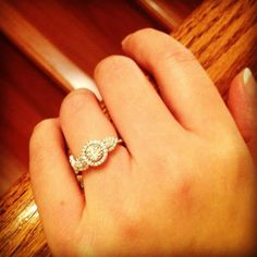 Sarra Rachelle S. we adore your Gabriel & Co. Engagement Ring! Sarra's three stoned engagement ring is shining bright in this beautiful shot. Sarra has found her perfect match of an engagement ring and so should you! Check out www.gabrielny.com to find your perfect ring as well.