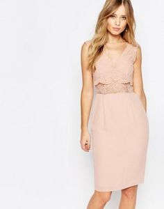 Elise ryan lace ponte dress