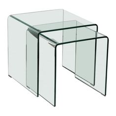Made from glass and featuring a stunning curved effect, this nest of tables offers a sleek and contemporary addition to any home.  #glassfurniture #glassinterior #glassinteriors #glassinteriordesign #furnituredesign #vintagefurniture #inspohome #betterhomesandgardens #antiquefurniture #luxuryinteriors #luxurydecor #passion4interior #styleathome #roomforinspo #homesdirect365 #homeinspiration #decor