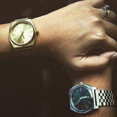 @wooden_brescia Nixon Time Teller All Gold - Silver
