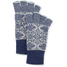 Brora Nordic Fingerless Gloves (2,000 MXN) ❤ liked on Polyvore featuring accessories, gloves, cashmere fingerless gloves, white gloves, cashmere gloves, fingerless gloves and brora