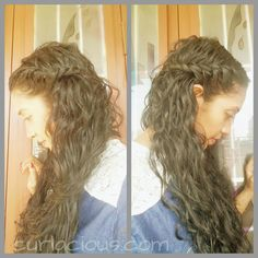 Quick & easy everyday hairstyles for curly or wavy hair