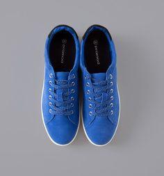 Damen-Sneaker aus Wildleder blau - Promod