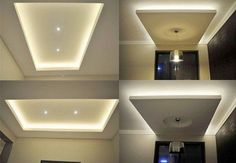 Different kinds of cove/slot lighting for living room/dining room. House Ceiling Design, Ceiling Design Living Room, Bedroom False Ceiling Design, Ceiling Light Design, Roof Design, Living Room Lighting, House Design, Interior Lighting, Home Lighting