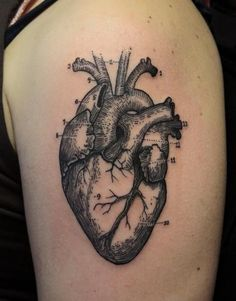 geometric heart tattoo - Google Search