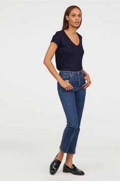 Tricou de in - Albastru-închis - FEMEI | H&M RO 2