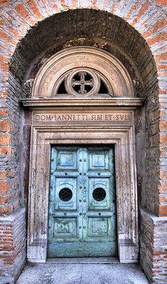 Turquoise doors ~ Rome, Italy