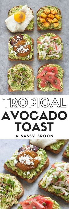Up your brunch game by bringing the flavors of Miami to your avocado toast using mango, sweet plantains, smoked salmon, crab, eggs, herbs and spices! via @asassyspoon