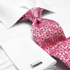 Handmade pink floral tie | Men's handmade ties from Charles Tyrwhitt | CTShirts.com
