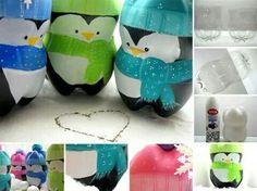 Pinguini con bottiglia