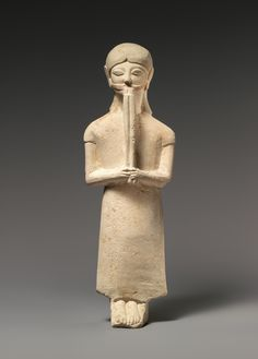Limestone flute-player Period: Archaic Date: 1st half of the 6th century B.C. Culture: Cypriot