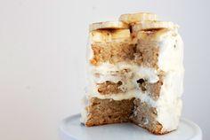 banana cake with mocha frosting