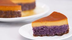 Ube + leche flan. This will be your new favorite dessert!