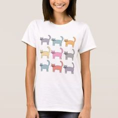 Shop Colorful Cats T-Shirt created by StellaDesign. Personalize it with photos & text or purchase as is! Cat Colors, Colours, Dye T Shirt, Cat Shirts, Colorful Shirts, Fitness Models, T Shirts For Women, Casual, How To Wear