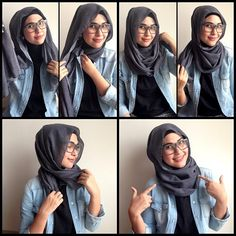 Quick Hijab Tutorial For Glasses i wear glasses i need it!!