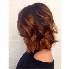 Copper bayalage hair. Angeles long bob. Soft curls. #hair #copper