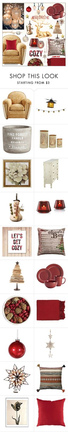 """Cozy Christmas Dinner Party"" by theseapearl ❤ liked on Polyvore featuring interior, interiors, interior design, home, home decor, interior decorating, Cyan Design, National Tree Company, Baccarat and Rachael Ray"