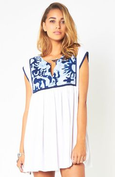 SOMEDAY   Cool Water Ikat Dress   $89