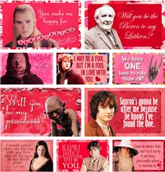 Lord of the Rings valentines. For the 'precious' in your life!