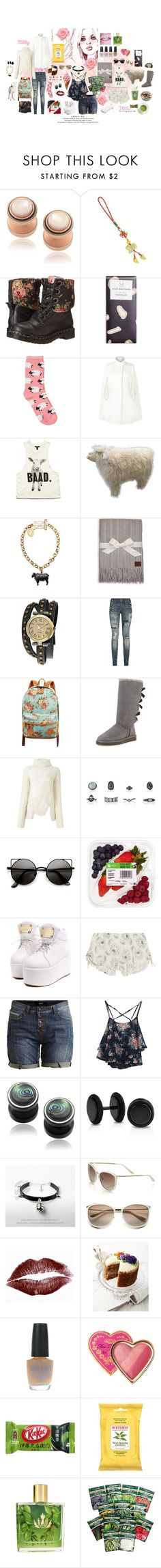 """""""Year of the Sheep 🐑"""" by tinydesu ❤ liked on Polyvore featuring LULU, Dr. Martens, Oasis, Harrods, Forever 21, Joules, UGG Australia, Bling Jewelry, Polo Ralph Lauren and UGG"""