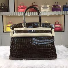 cf79c5c786 Brand  Hermes  Style  Birkin Bag30cm  Material Crocodile Shiny Leather (HCP