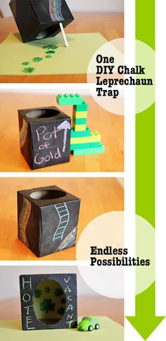 A DIY Leprechaun trap for St. Paddy's Day that you can and the kids can come up with a million different ways to play with.