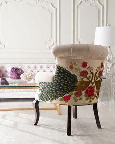 Haute House Cream Peacock Chair - $1,999.00