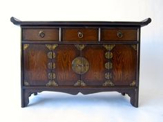 Vintage Wood Small Korean Chest (item #1265908, detailed views)
