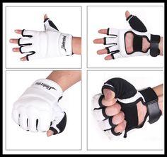 White Half Finger Fight Boxing Gloves Mitts Sanda Karate Sandbag Taekwondo Protector For Boxing Mma Muay Thai Kick Boxing
