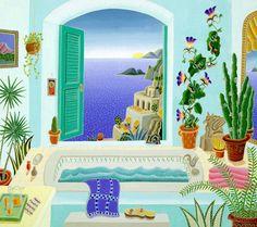 Positano Bath by Thomas McKnight