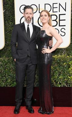 Darren Le Gallo & Amy Adams from 2017 Golden Globes: Red Carpet Couples  The Best Actress nominee is positively glowing next to her handsome hubby.