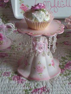 Handpainted Roses: sweet rose Cupcake holders