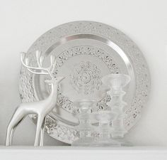 deer, tray and Sarpaneva candle holders