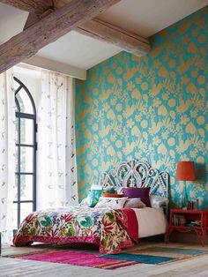 Farmhouse Master Bedroom, Home Bedroom, Bedroom Decor, Bedroom Ideas, Girls Bedroom, Deco Boheme Chic, Bohemian Bedrooms, Eclectic Bedrooms, Trendy Bedroom