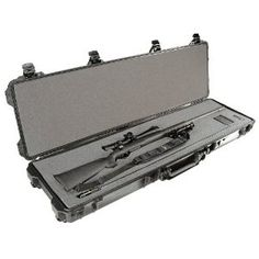 Pelican 1750 Case with Foam for Rifle Black - $217.29 For when I get my Sig M400 Enhanced to store/travel with that and my Glock 19