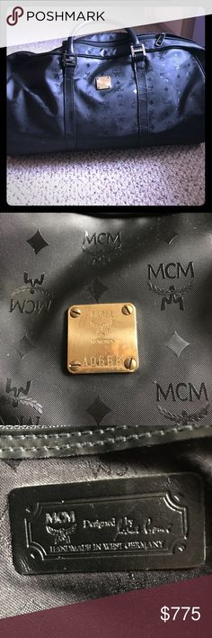 MCM Weekend Bag Vintage black MCM weekend bag MCM Bags Travel Bags