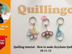 Quilling Tutorial - How to make Quilling Keychains Quilling Keychains, How To Make Keychains, Paper Shaper, Quilling Tutorial, Fusion Beads, How To Make Paper, Paper Flowers, Youtube, Melting Beads