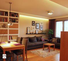 mieszkanie 90m2 - Salon, styl nowoczesny - zdjęcie od ZAWICKA-ID Projektowanie wnętrz
