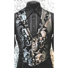 Shrine Gothic Wedding Victorian Aristocrat Vest - Silver and Black Tapestry Victorian Gothic Wedding, Victorian Vampire, Celtic Costume, Beautiful Dresses, Nice Dresses, Victorian Gentleman, Groom Wear, Cool Outfits, Vest