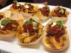 Mexican Canape - Mini Beef Nacho Bowl