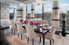 Beautiful Modern Flowers Dining Room Accessories