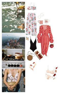 """🍓"" by minyi-reka ❤ liked on Polyvore featuring Johanna Ortiz, Sue Parkinson Home Collection, tarte, Osklen, Margaux Lange, Burleigh, Castañer, Marni, Mimi Holliday by Damaris and By Terry"