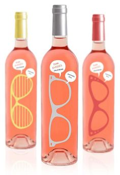 Polish design company Luksemburk has designed Pink Glasses, a rosé wine bottle packaging concept that cleverly doubles as rose-colored glasses. Clever Packaging, Beverage Packaging, Bottle Packaging, Packaging Design, Wine Bottle Design, Wine Design, Label Design, Mundo Marketing, Rose Colored Glasses